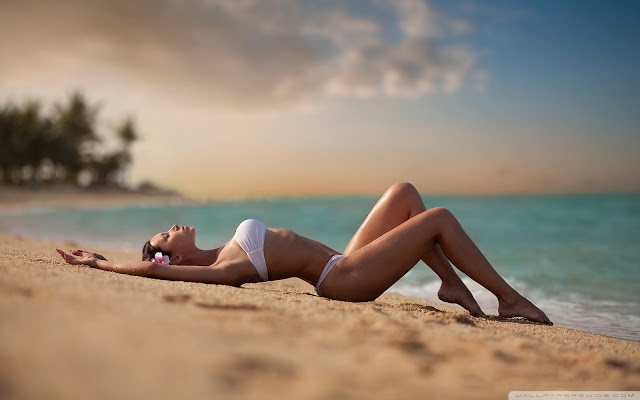 Hot Summer Beach with Sexy Lingerie