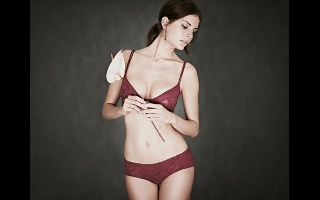 Super Model from Hungary: Warm color Lingerie Show