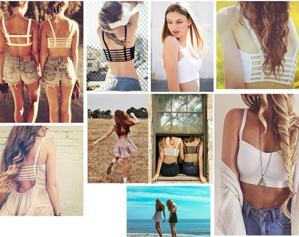 hollow out cropped tops