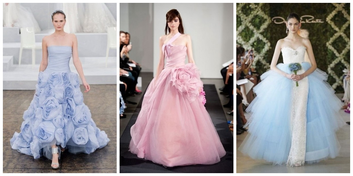 color wedding dresses