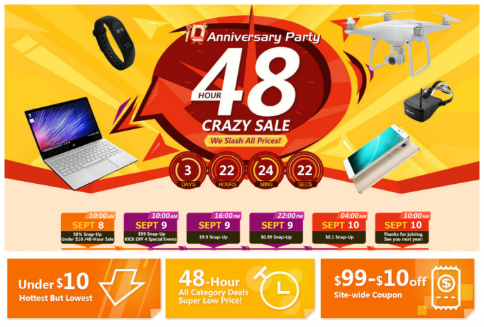 The Final 48-Hour Crazy Sale for Banggood 10th Birthday