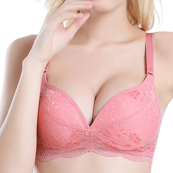 Lace-trim Adjustable Bra