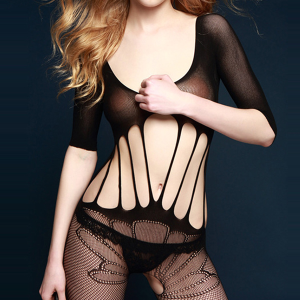 Perspective Mesh Bodystocking