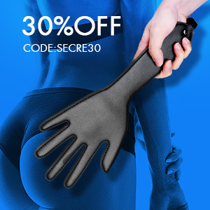 Black Hand Shape Spanking Whip Toy